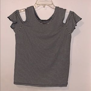 Arizona Striped Cold Shoulder Blouse